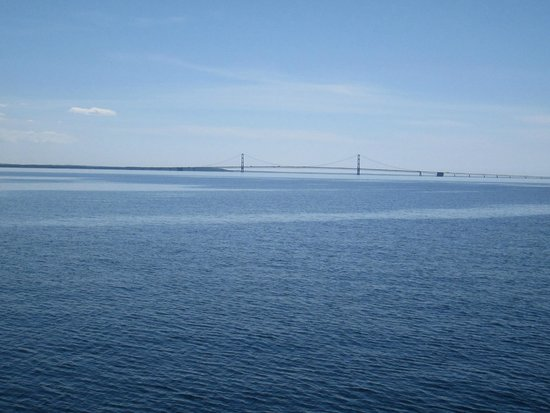 Shepler's Mackinac Island Ferry : Views from the top deck returning from the island to St. Ignace