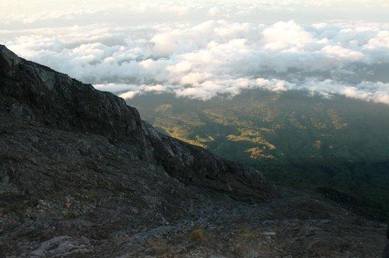 Udsigt fra toppen af Mount Agung