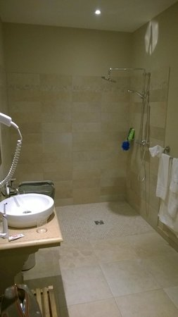 Hôtel Le Sauvage : Shower room, very refreshing after a day on the bike