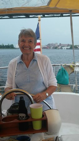 Sail Wilmington NC: Mom at the helm