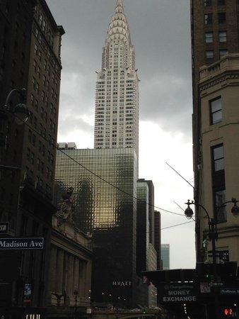 Grand Hyatt New York: Looking down 42nd street