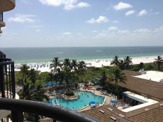 Hilton Marco Island Beach Resort--CLOSED FOR RENOVATIONS; REOPENING DEC. 1, 2017: View from our Room