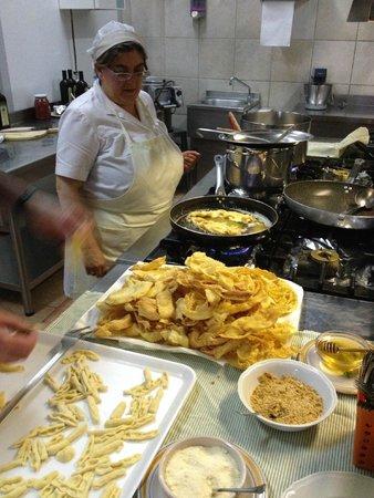 La Foresteria di San Leo : de kokkin die de kookcursus verzorgde