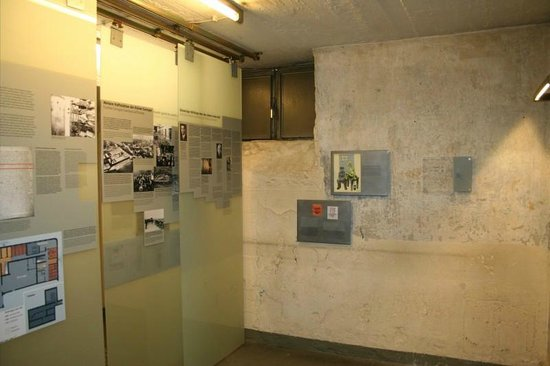 National Socialism Documentation Center : Basement: Cells with Prisoner's Writings.
