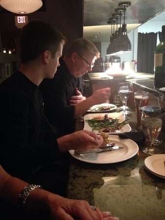 John Palmers Bistro 44 : The owner and chef, John DeJoy sat down with my son to have some dinner.  Talk about personalize
