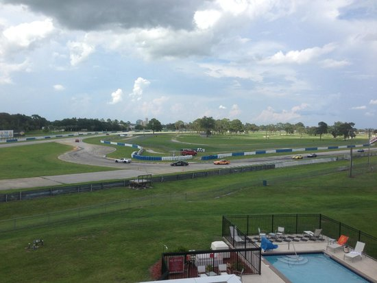 Sebring International Raceway: View from balcony at Chateau Elan hotel