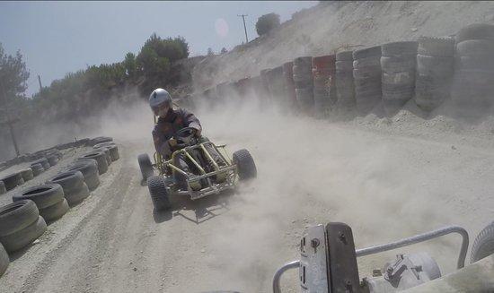 Sayious Adventure Park: Drift Karting around the track.