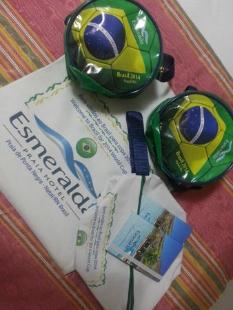Esmeralda Praia Hotel: Hotel Esmeralda - Boas Vindas