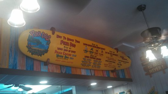 Puka Dog: Menu and Options