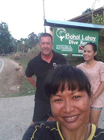 Bohol Lahoy Dive Resort: Micha, Leah und Geraldine
