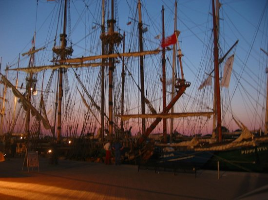 port of Rostock: 停泊中の帆船