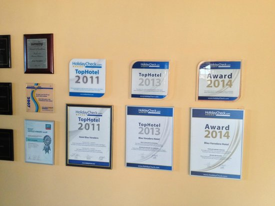 Blau Varadero Hotel Cuba: Certificates they got