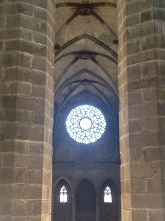 Église Sainte-Marie-de-la-Mer : from the 2nd floor looking down the cathedral towards its entrance