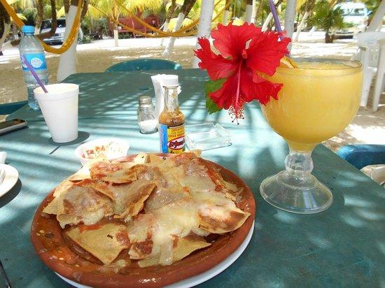 Playa Palancar: snacks and drinks