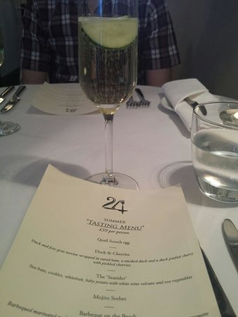 24 St Georges: Elderflower fizz and a tasting menu...