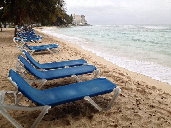 Coconut Court Beach Hotel: Neach recliners at the ready...there were always plenty of them too...!