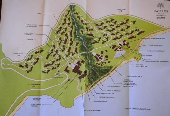 Raffles Seychelles: Карта отеля