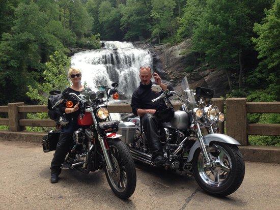Bald River Falls: My husband and I