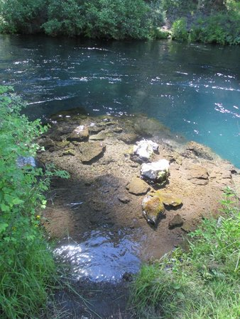 Wizard Falls Fish Hatchery: Hiking along side the Metolious River