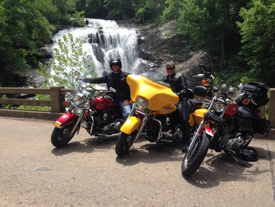 Bald River Falls: One last photo before we ride out