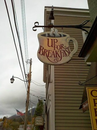 Up For Breakfast: Look for this sign!