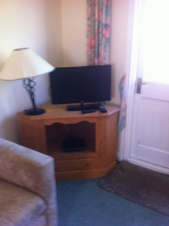 Solway Holiday Village: TV in sitting room