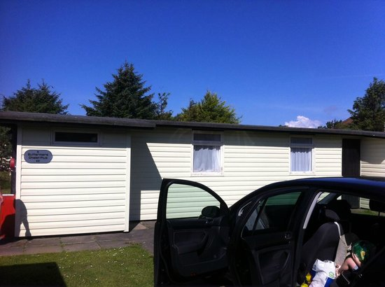 Solway Holiday Village: chalet from front