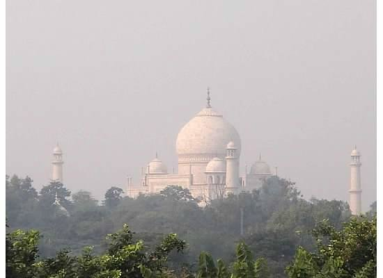 The Oberoi Amarvilas: The Taj Majal as seen from our room