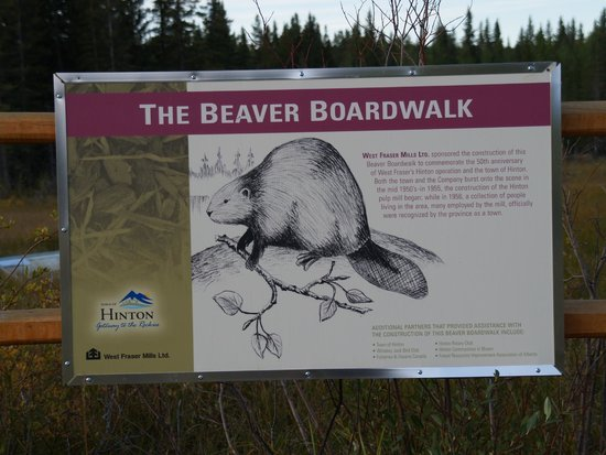The Beaver Boardwalk : Welcome sign