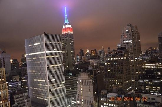Hilton Times Square: View from room 4012