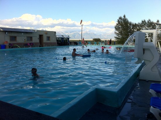 Sand Dunes Recreation Hot Springs Pool : The water is warm and the scenery isn't bad either. There's also a hot springs pool inside that'