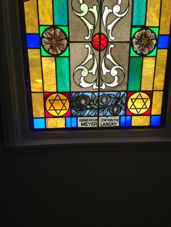 Jewish Museum of Florida - FIU: Lansky stained glass window