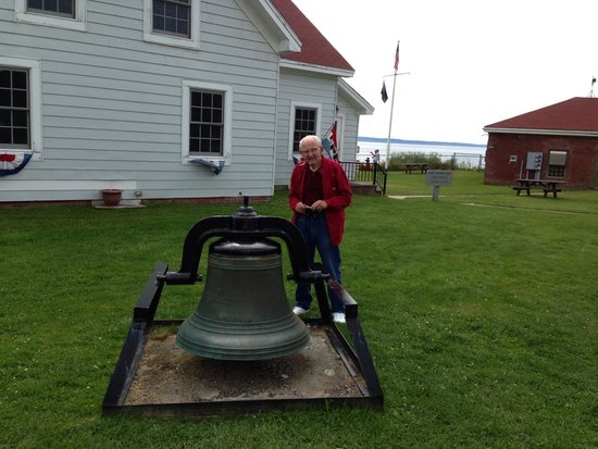 West Quoddy Head Light: Dad at the bell
