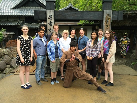 """Edo Wonderland Nikko Edomura: our group with """"The Raven"""""""