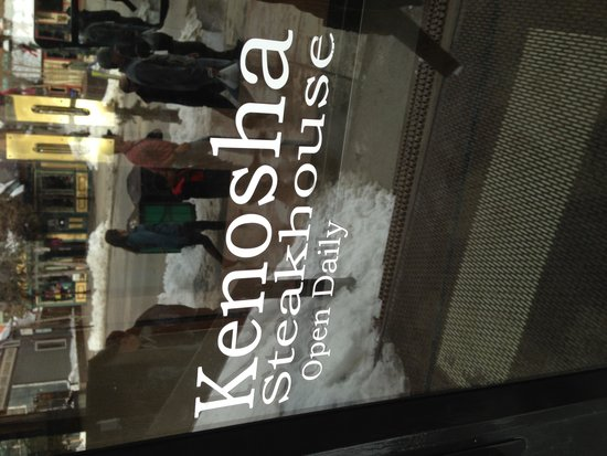Kenosha Steakhouse: Steakhouse with a twist