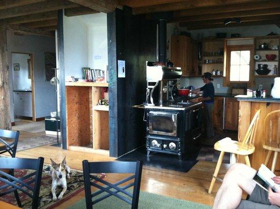 OPUS Hut: Kitchen/ common space