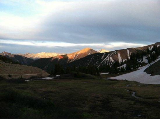 OPUS Hut: View from Ophir Pass sunset walk