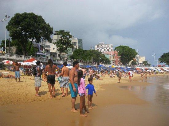Praia do Porto da Barra: World Cup Fan Fest in the background of the beach