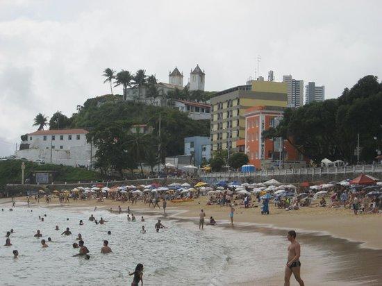 Praia do Porto da Barra: A cloudy day during the World Cup along the beach