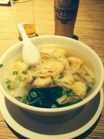 Noodle Shop: Wontons chewy but broth and noodles very good.