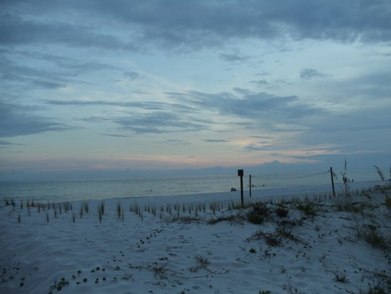 Okaloosa Island: Looking across one of the dunes toward the Gulf