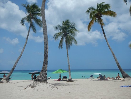 Public beach of Dominicus at Bayahibe: praia pública