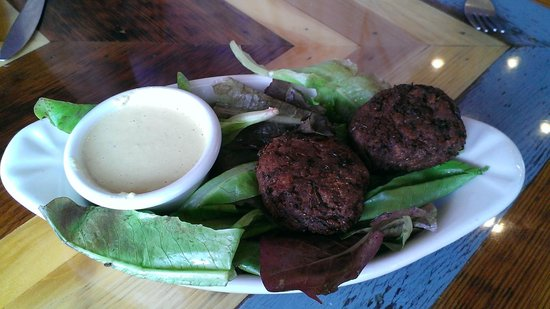 The Little Grill Collective: Falafel w/local lettuces and lemon tahini sauce
