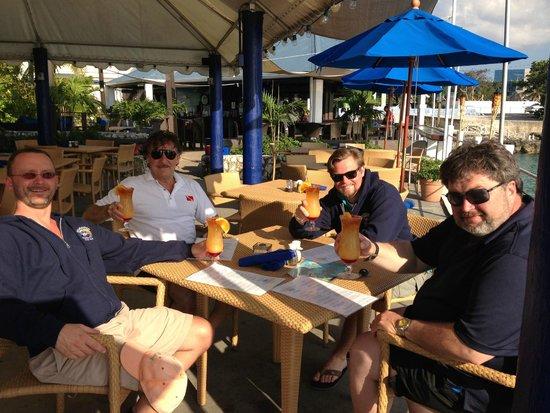 Rackam's Waterfront Restaurant & Bar : post-dive hydration