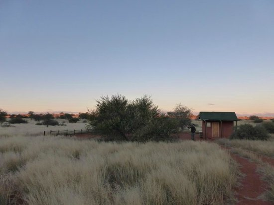 Bagatelle Kalahari Game Ranch: Camping spot at Bagatelle Game Ranch