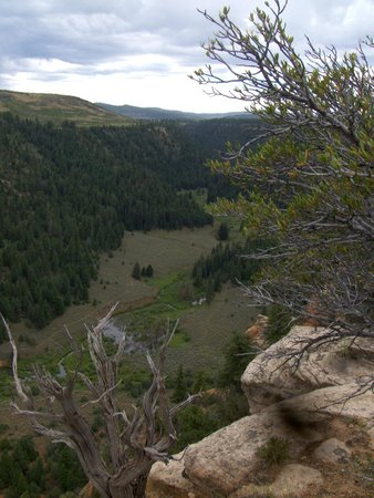Grand Junction, CO: Carson Hole, panarama.  the T trail goes just a bit east of here