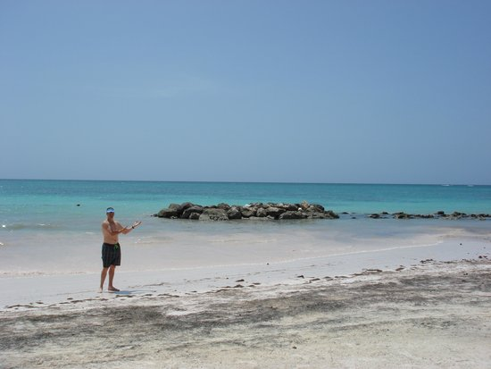 "Sanctuary Cap Cana by AlSol: Beach area there is a monkey ""tinkerbell"""