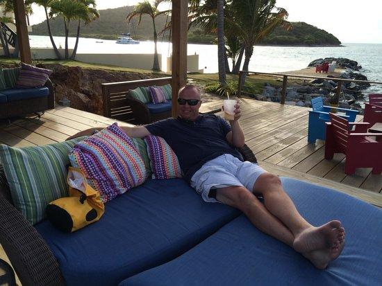 Back deck of Saba Rock
