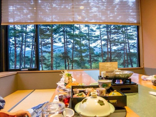 Hotel Keisui: Yummy meal with a view!