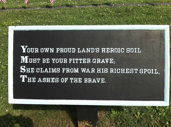 Gettysburg National Cemetery: One of the emotional plaques around the graves